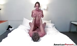 gonzo penetration of tiny slits of a stunning school lady