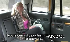 huge-titted British blond