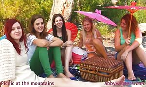 epic cuties and Abby Winters are having a proper lunch