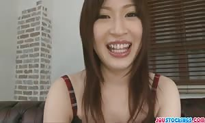 beautiful asian Oshima pulsated and spunk loaded in her mouth
