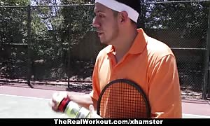 TheRealWorkout - Keisha gray banged After Playing Tennis